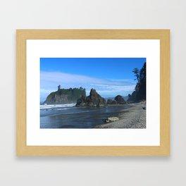Morning At Ruby Beach Framed Art Print