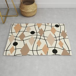 Colorful Mid Century Modern Geometric Abstract 131 Rug