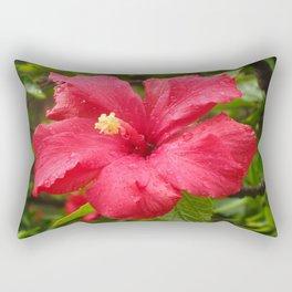 Flower in the Rain Rectangular Pillow