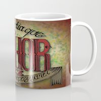 lettering Mugs featuring Lettering by MarcosDevelop