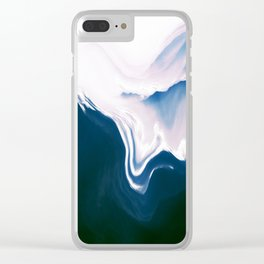 Distorted Mountains II Clear iPhone Case
