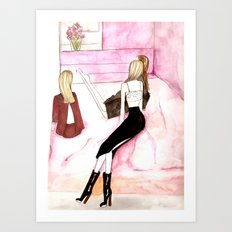 L'amitie Art Print