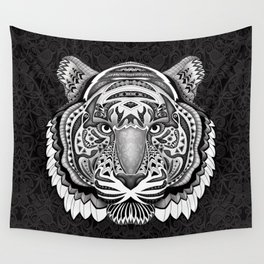 Tiger face aztec pattern Wall Tapestry