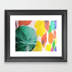 Acryl colored dots Framed Art Print