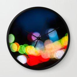 Streetlight Bokeh Wall Clock