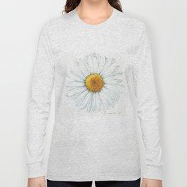 Watercolor Daisy Long Sleeve T-shirt
