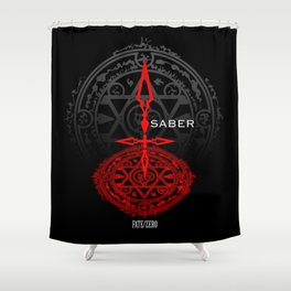 Fate/Zero Saber Shower Curtain
