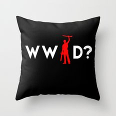 Evil Dead Army of Darkness Bruce Campbell: What Would Ash Do? Throw Pillow