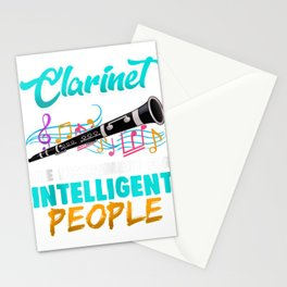 Funny Clarinet Player Gifts for Marching Bands Members Zip Hoodie Stationery Cards