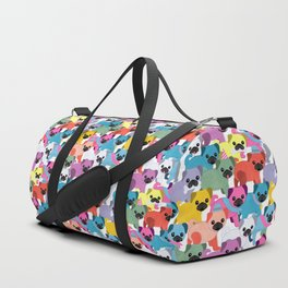 Colored Pugs Pattern - no1 Duffle Bag
