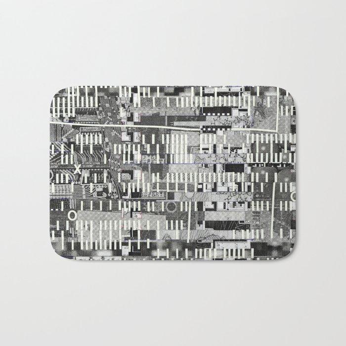 Exploiting Digital Behavior (P/D3 Glitch Collage Studies) Bath Mat
