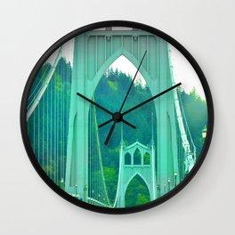 St. Johns Bridge Portland Oregon Wall Clock