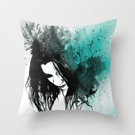 This Confession Means Nothing: Turquoise Throw Pillow