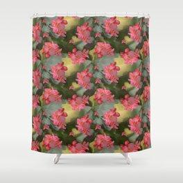 Vermeers Begonias Shower Curtain