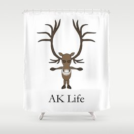 AK Life Caribou Shower Curtain