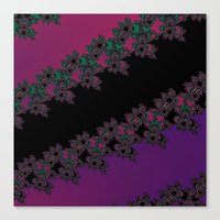 Fractal Layered Lace  Canvas Print