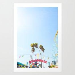 Santa Cruz Boardwalk Series 6 Art Print