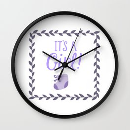 Its a girl Wall Clock