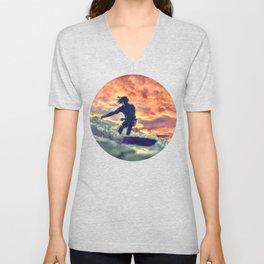 Surfing Unisex V-Neck