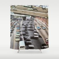 cars Shower Curtains featuring cars by danielrcart