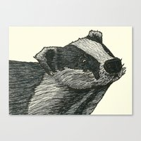 badger Canvas Prints featuring Badger by Jack Kershaw