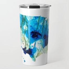 Unique Red White And Blue - USA Map 30 - Sharon Cummings Travel Mug