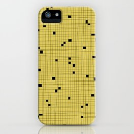 Yellow and Black Grid - Missing Pieces iPhone Case