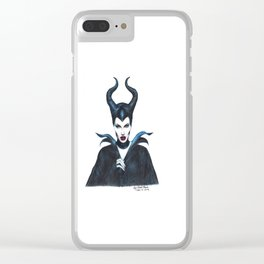 Maleficent Drawing Clear iPhone Case