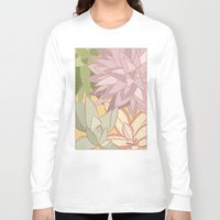 succulents Long Sleeve T-shirts featuring Succulents by Julia Walters Illustration