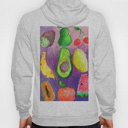 oil pastel fruits Hoody