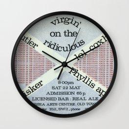 Ivor Cutler - Vintage concert Poster Wall Clock