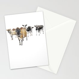 Cow Crowd Stationery Cards