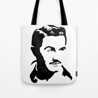 ed sheeran Tote Bags featuring Ed Wood by b & c