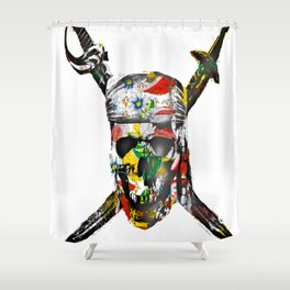 CanalFlowers Pirate Skull Shower Curtain