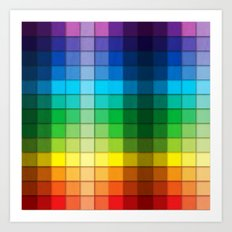 Colourful Squares Art Print