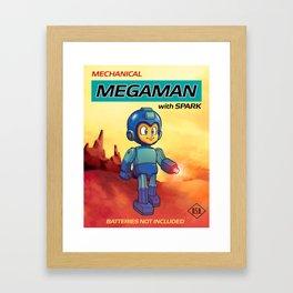 Tin Toy Mega Man Framed Art Print
