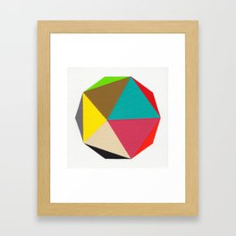 Decagon Framed Art Print