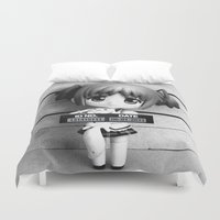 madoka Duvet Covers featuring MADOKA LINEUP by Christophe Chiozzi