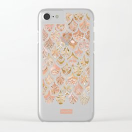 PAISLEY MERMAID Rose Gold Fish Scales Clear iPhone Case