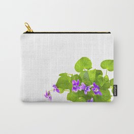 Bunch of Wild Violets Isolated on White Carry-All Pouch