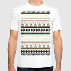 Aztec 3 Mens Fitted Tee MEDIUM White