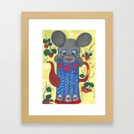 Cute mouse Framed Art Print