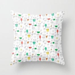 Summer outline Throw Pillow