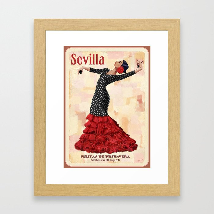 Seville April Fair Framed Art Print