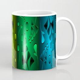 Precious patterns metallic green plants red blades grass shimmering vintage style. Coffee Mug