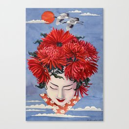 Gaisha Flower girl Canvas Print