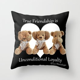 Teddy & Lily Throw Pillow