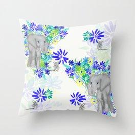 Elephant Dreams Throw Pillow