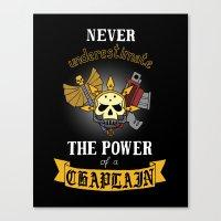 warhammer Canvas Prints featuring Chaplain, Warhammer 40K by ZsaMo Design