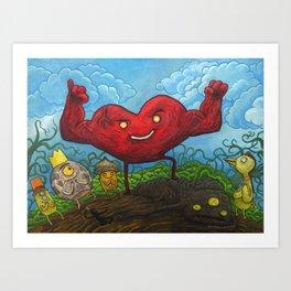 Strong Heart & Ninja Assasin Art Print